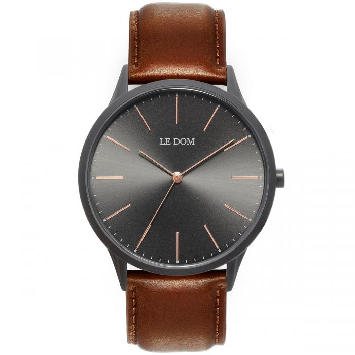 SKU-40172 / LE DOM Classic Collection Brown Leather Strap