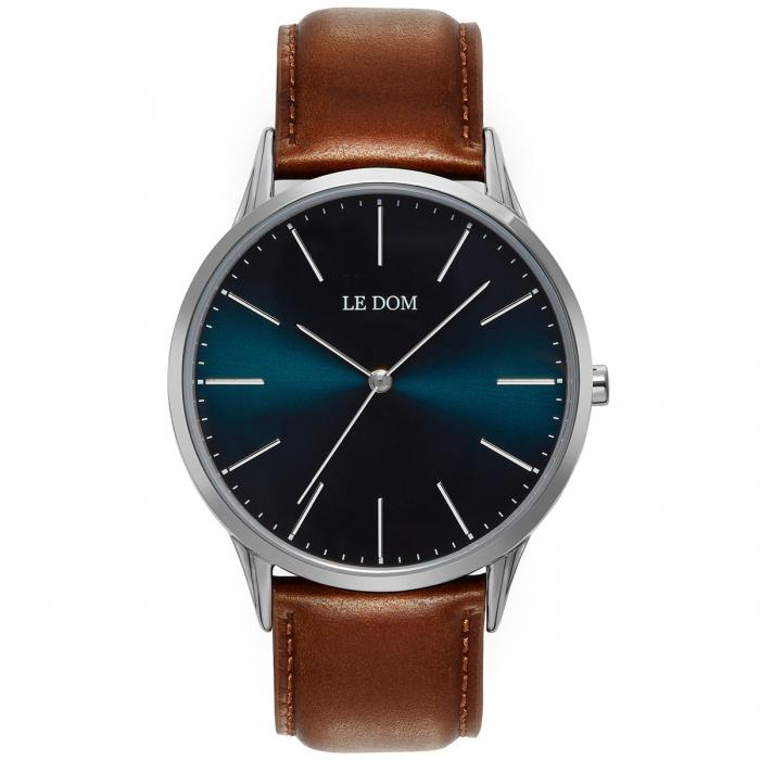 SKU-40177 / LE DOM Classic Collection Brown Leather Strap