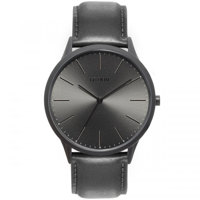 SKU-40182 / LE DOM Classic Collection Grey Leather Strap