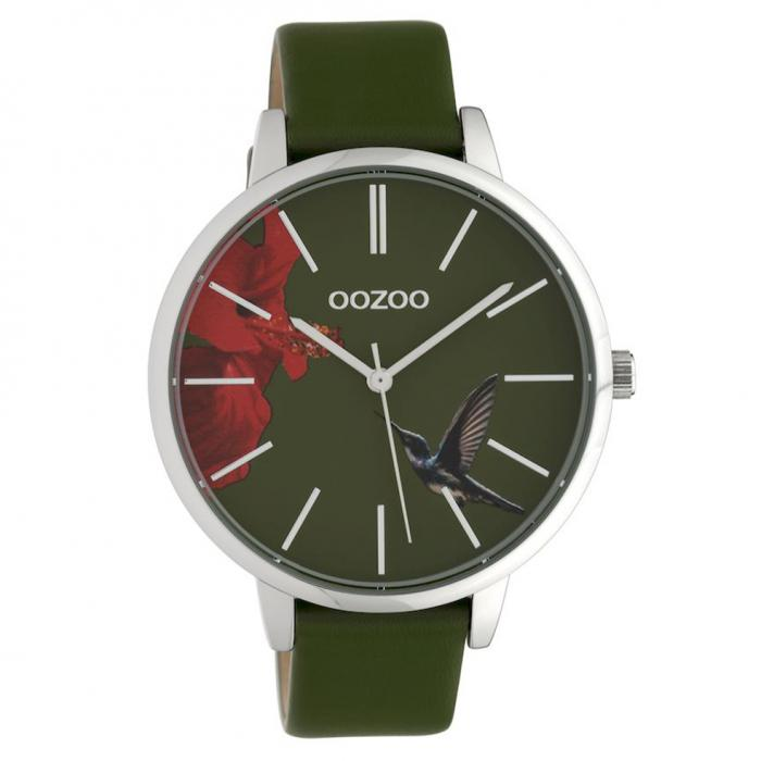 SKU-40596 / OOZOO Timepieces Limited Collection Green Leather Strap