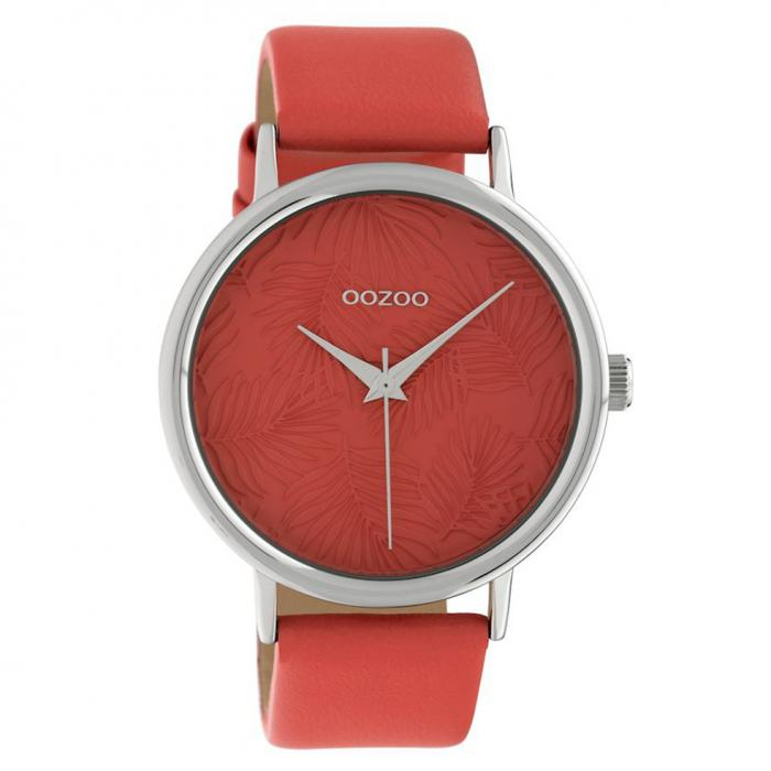 SKU-40578 / OOZOO Timepieces Limited Collection Red Leather Strap