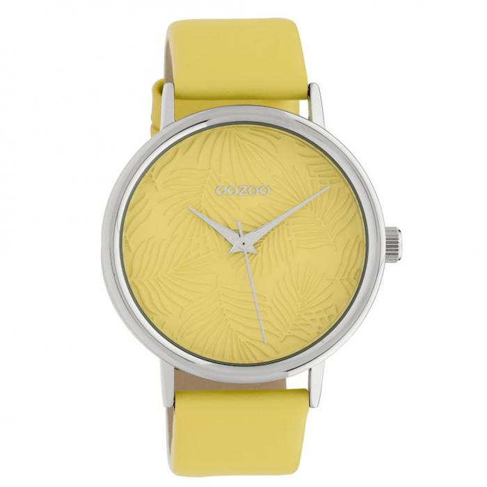 SKU-40580 / OOZOO Timepieces Limited Collection Yellow Leather Strap