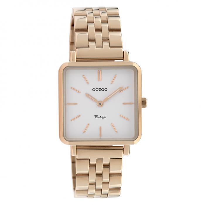 SKU-40627 / OOZOO Vintage Rose Gold Stainless Steel Bracelet