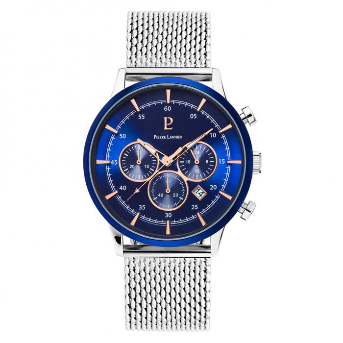 SKU-40820 / PIERRE LANNIER Capital Chronograph Stainless Steel Bracelet