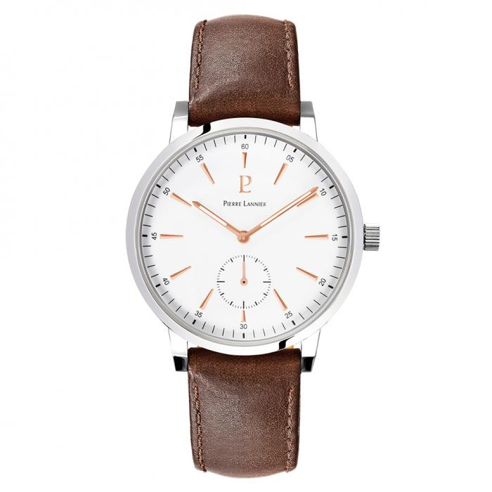 SKU-40821 / PIERRE LANNIER Spirit Brown Leather Strap