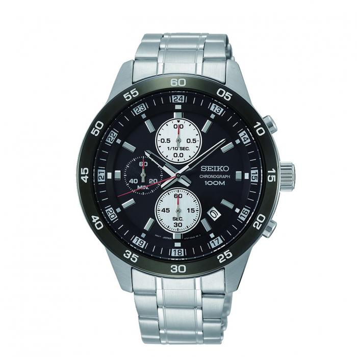 SKU-40126 / SEIKO Chronograph  Silver Stainless Steel Bracelet