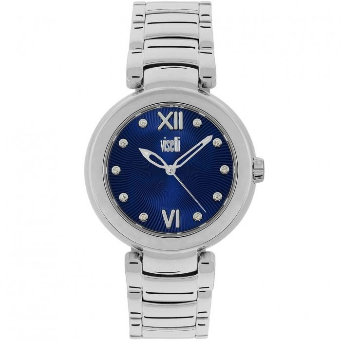 SKU-40671 / VISETTI Ladies Crystals Silver Stainless Steel Bracelet