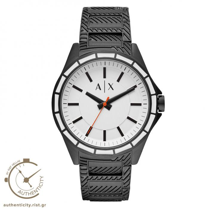 SKU-41331 / ARMANI EXCHANGE Black Stainless Steel Bracelet