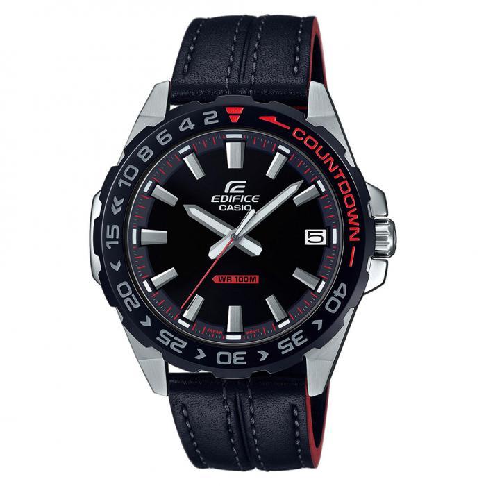 SKU-41157 / CASIO Edifice Black Leather Strap