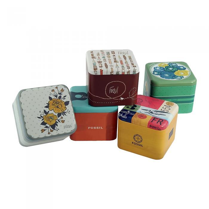 SKU-41060 / FOSSIL Scarlette Crystals Pink Leather Strap Gift Set