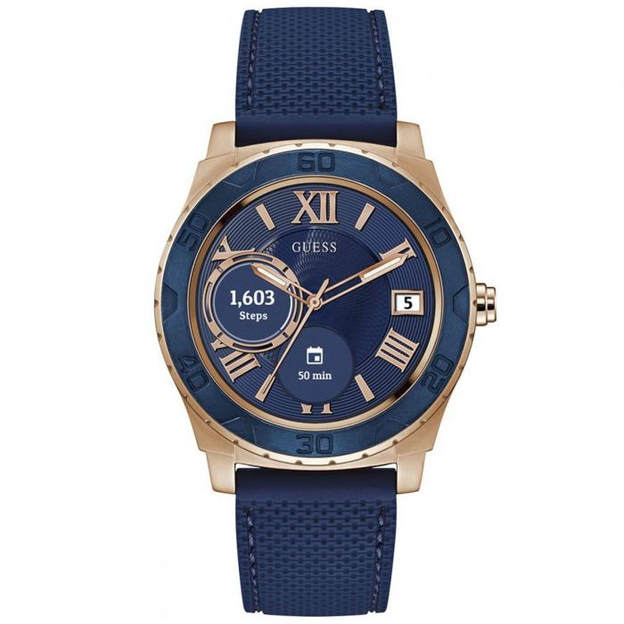 SKU-41916 / GUESS Connect Blue Rubber Strap