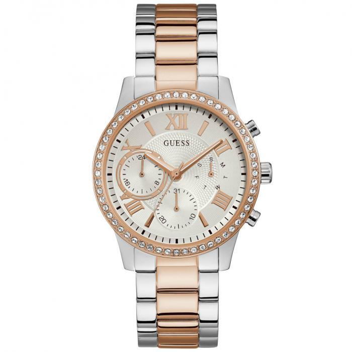 SKU-41985 / GUESS Crystals Multifunction Two Tone Stainless Steel Bracelet
