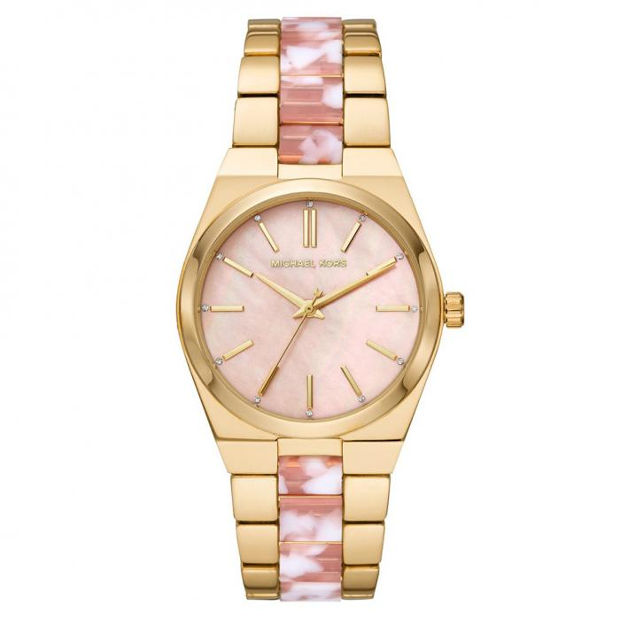 SKU-41690 / MICHAEL KORS Channing Crystals Two Tone Stainless Steel Bracelet