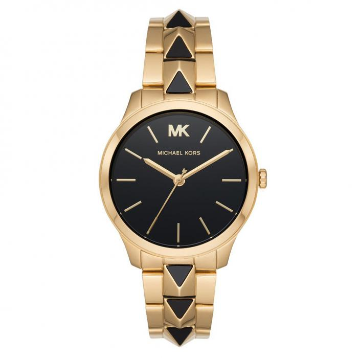 MICHAEL KORS Runway Two Tone Gold Stainless Steel Bracelet