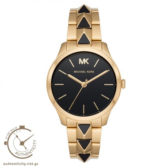 SKU-41127 / MICHAEL KORS Runway Two Tone Gold Stainless Steel Bracelet