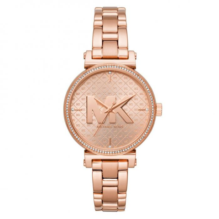 MICHAEL KORS Sofie Crystals Rose Gold Stainless Steel Bracelet