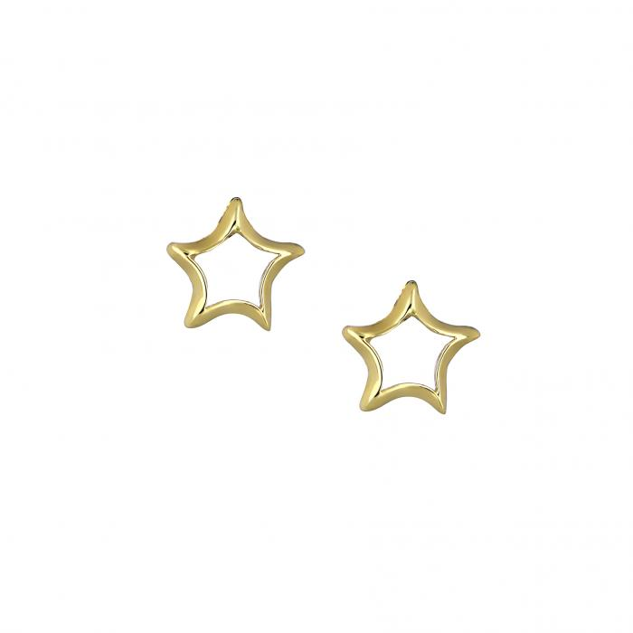 SKU-41733 / Σκουλαρίκια Αστέρι Χρυσός Κ14