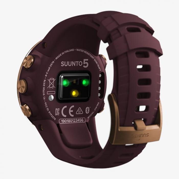 SKU-41911 / SUUNTO 5 Burgundy Copper Bordeaux Silicone Strap