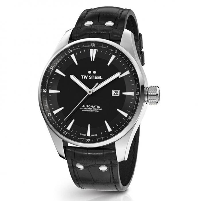 SKU-41717 / TW STEEL ACE Aternus Limited Edition Automatic Black Leather Strap