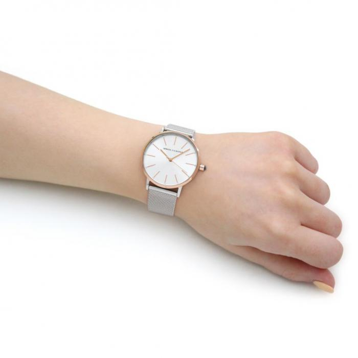 ARMANI EXCHANGE Lola Silver Stainless Steel Bracelet