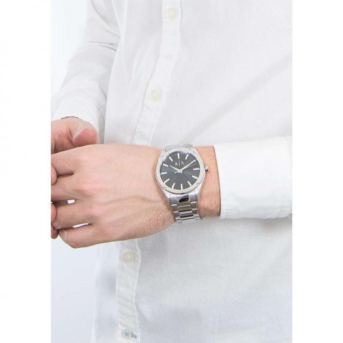 ARMANI EXCHANGE Silver Stainless Steel Bracelet