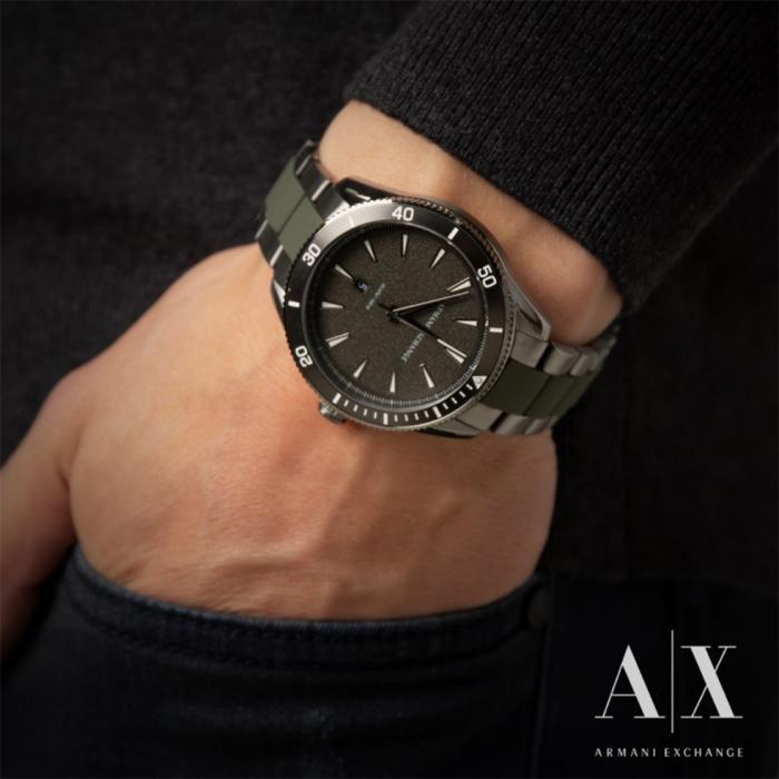 ARMANI EXCHANGE Two Tone Stainless Steel Bracelet
