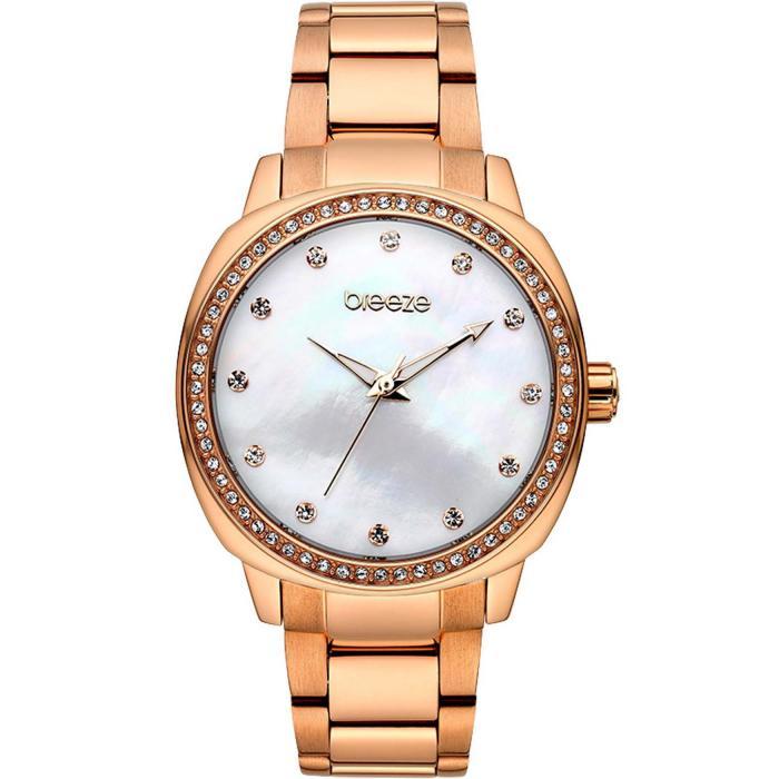 SKU-42145 / BREEZE Glamcy Crystals Rose Gold Stainless Steel Bracelet