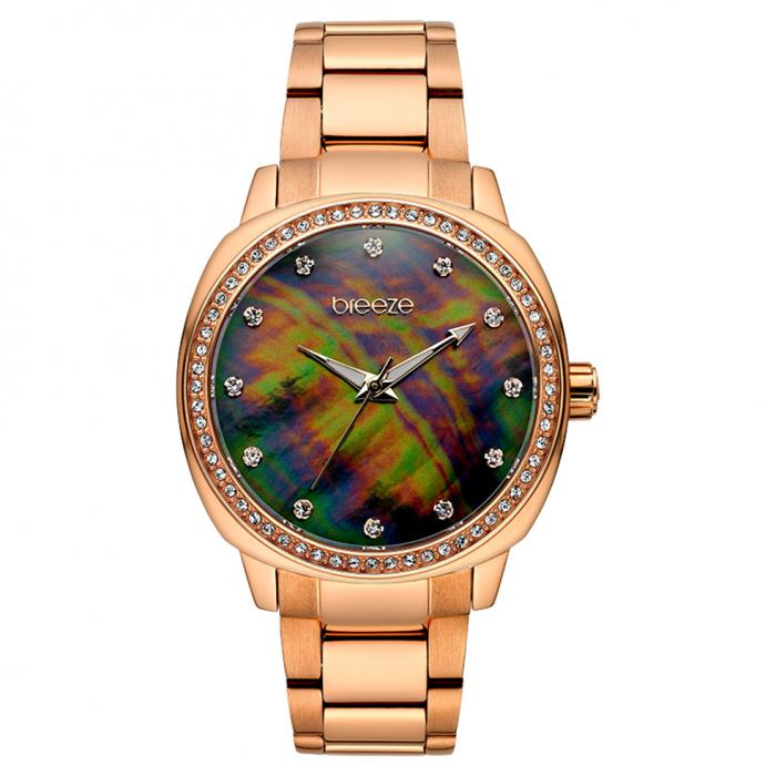 SKU-42242 / BREEZE Glamcy Crystals Rose Gold Stainless Steel Bracelet