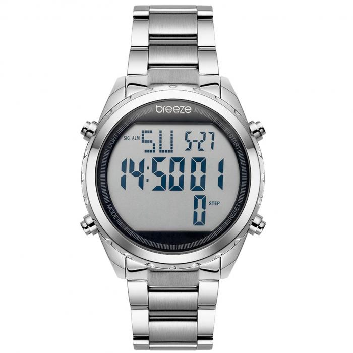 SKU-42140 / BREEZE TechnoPop Chronograph Silver Stainless Steel Bracelet
