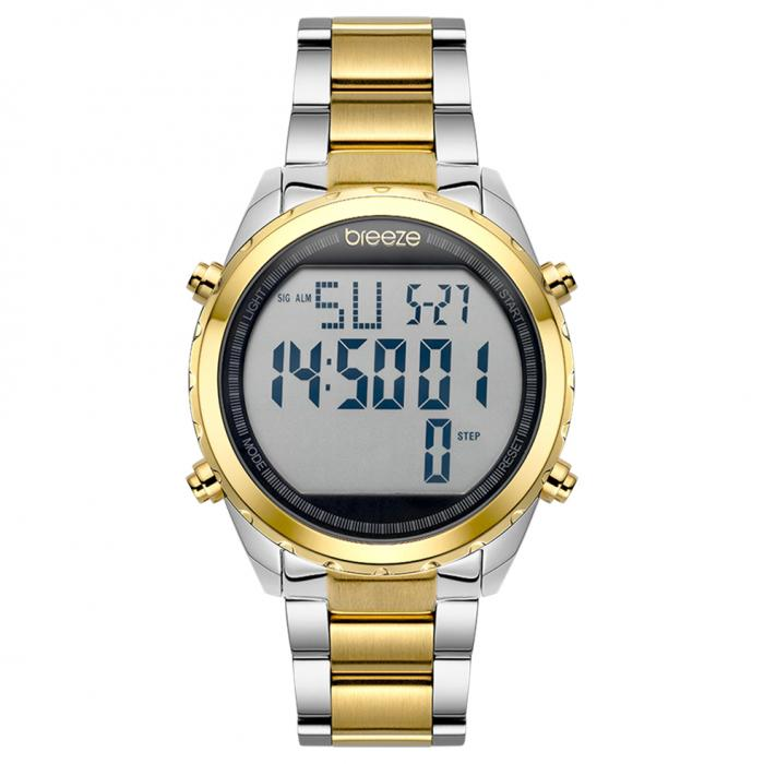 SKU-42256 / BREEZE TechnoPop Chronograph Two Tone Stainless Steel Bracelet
