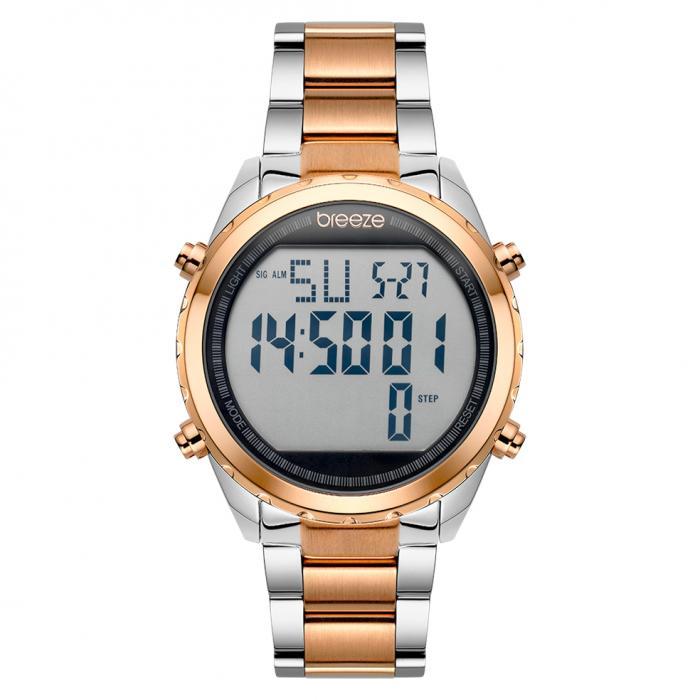 SKU-42257 / BREEZE TechnoPop Chronograph Two Tone Stainless Steel Bracelet
