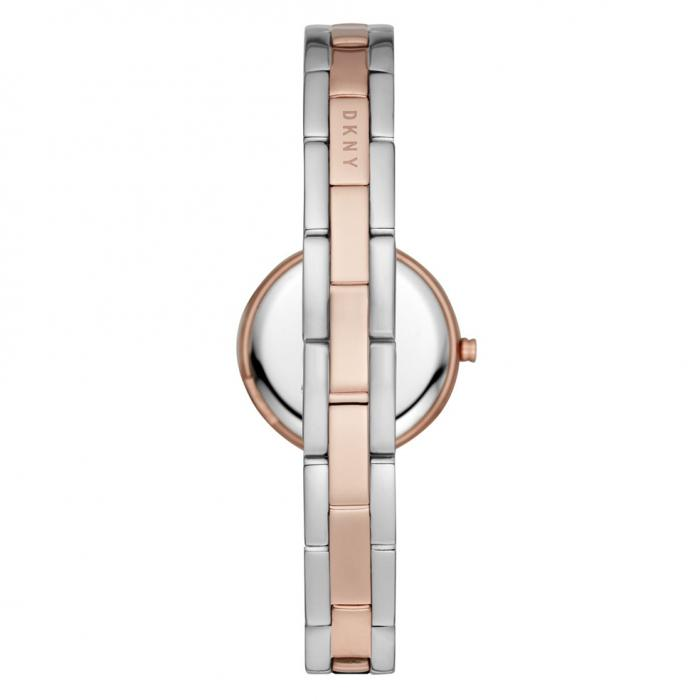 SKU-42520 / DKNY City Link Crystals Two Tone Stainless Steel Bracelet