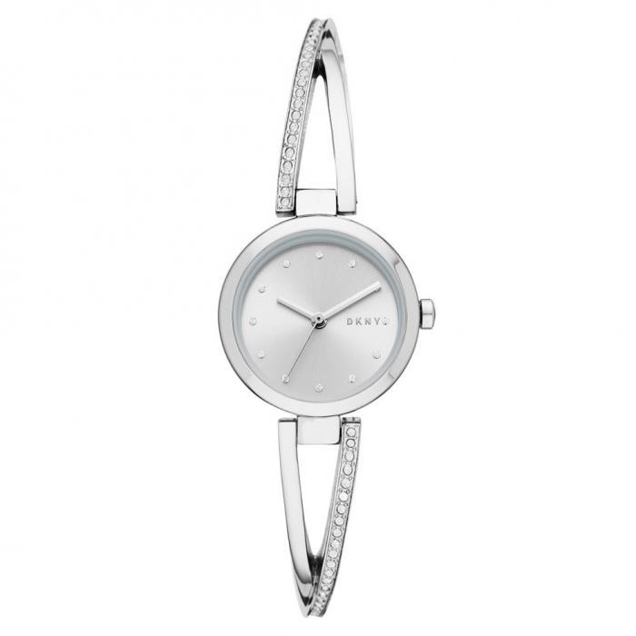 DKNY Crosswalk Crystals Silver Stainless Steel Bracelet