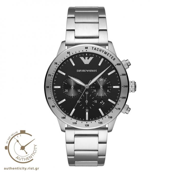 SKU-42218 / EMPORIO ARΜΑΝΙ Chronograph Silver Stainless Steel Bracelet