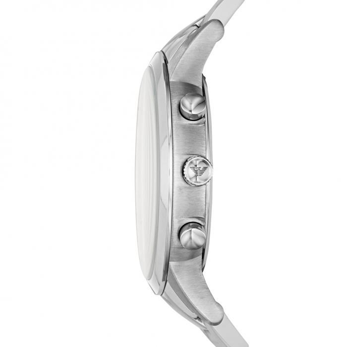 SKU-42879 / EMPORIO ARΜΑΝΙ Chronograph Silver Stainless Steel Bracelet