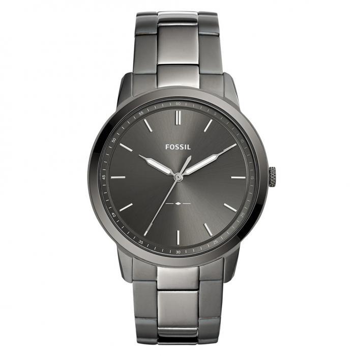 FOSSIL The Minimalist Grey Stainless Steel Bracelet
