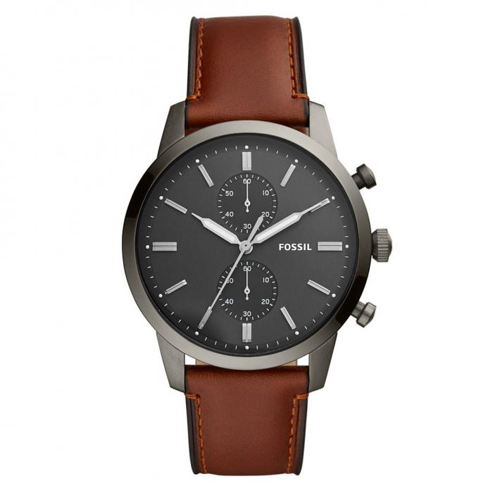 SKU-42888 / FOSSIL Townsman Chronograph Brown Leather Strap