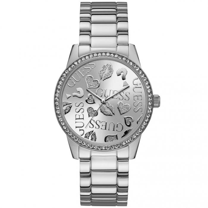 SKU-42037 / GUESS Ladies Crystals Silver Stainless Steel Bracelet