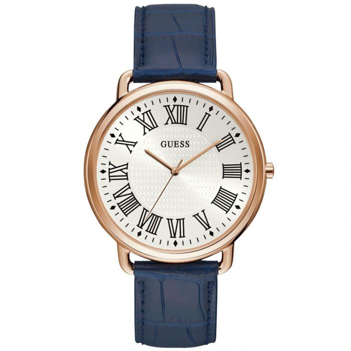 SKU-42016 / GUESS Mens Blue Leather Strap