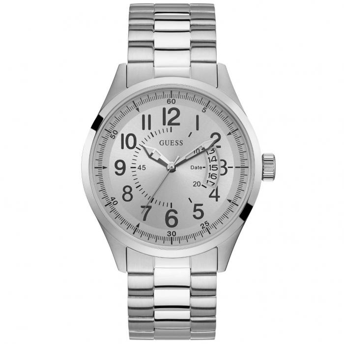 SKU-42055 / GUESS Mens Silver Stainless Steel Bracelet