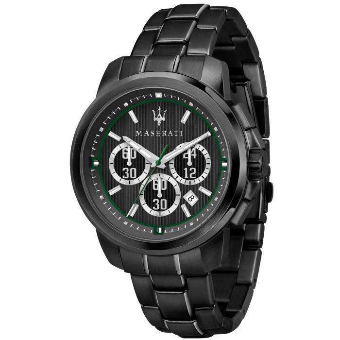 SKU-42494 / MASERATI Royale Chronograph Black Stainless Steel Bracelet