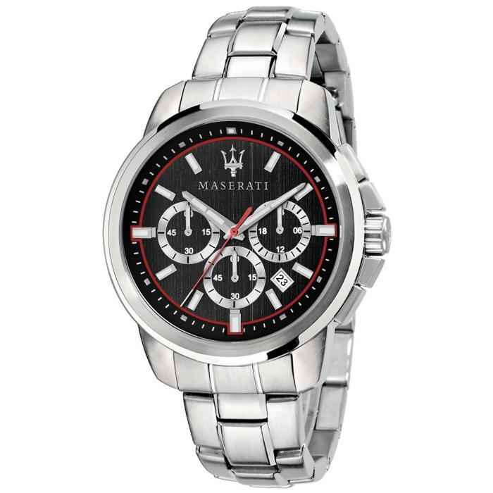 SKU-42492 / MASERATI Successo Chronograph Silver Stainless Steel Bracelet