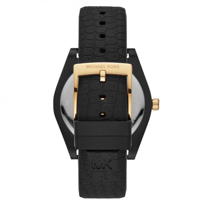 MICHAEL KORS Channing Black Silicone Strap