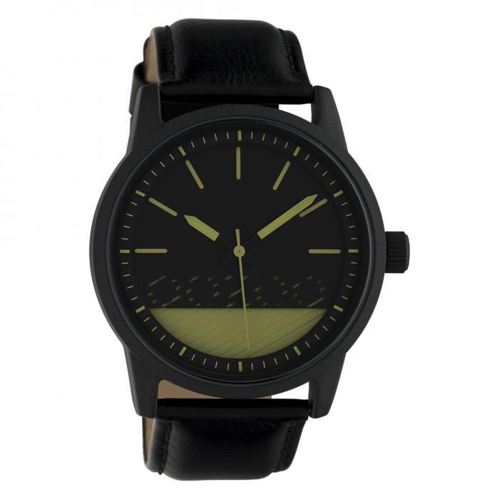 SKU-42539 / OOZOO Timepieces Black Leather Strap