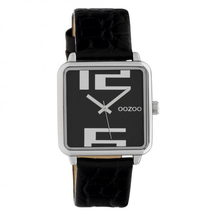 SKU-42612 / OOZOO Timepieces Black Leather Strap