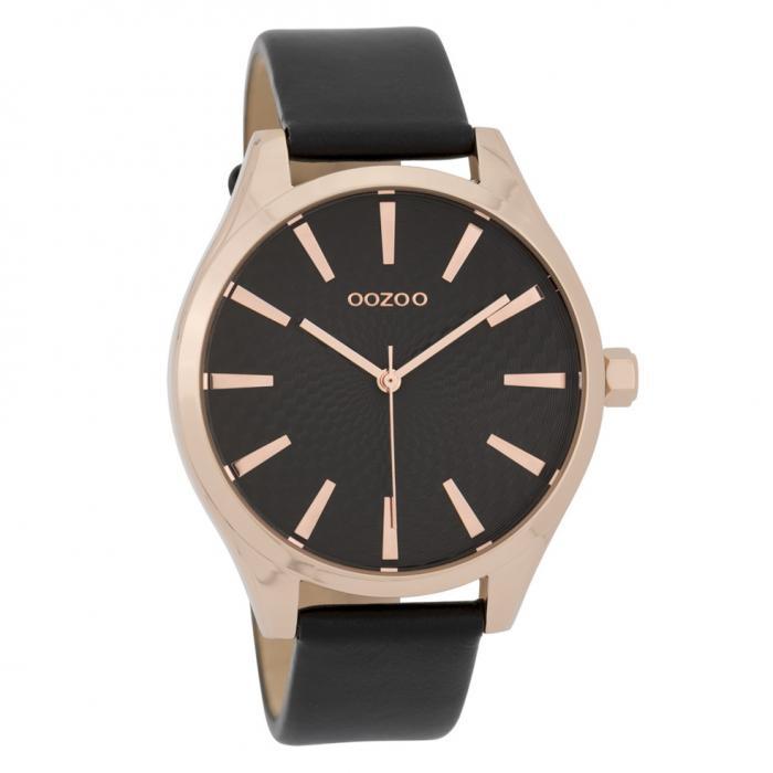 SKU-42772 / OOZOO Timepieces Black Leather Strap