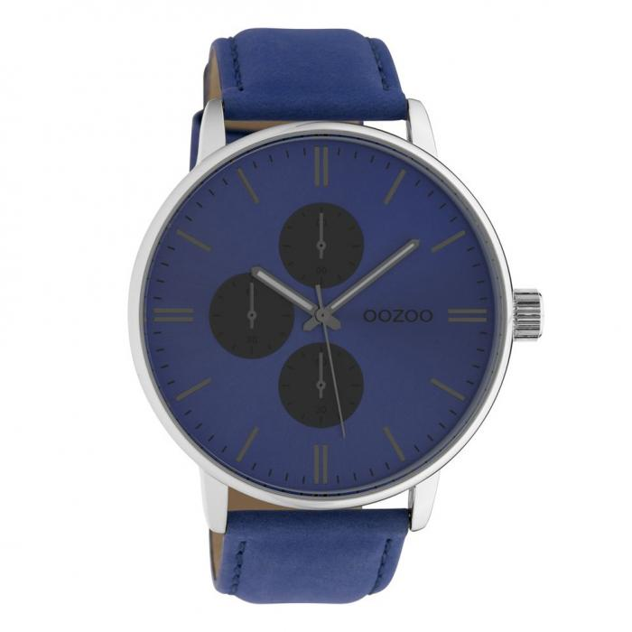 SKU-42540 / OOZOO Timepieces Blue Leather Strap