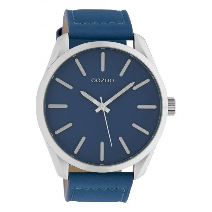 SKU-42551 / OOZOO Timepieces Blue Leather Strap