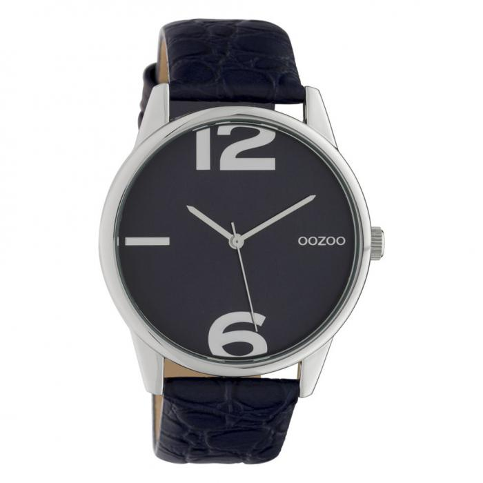 SKU-42620 / OOZOO Timepieces Blue Leather Strap