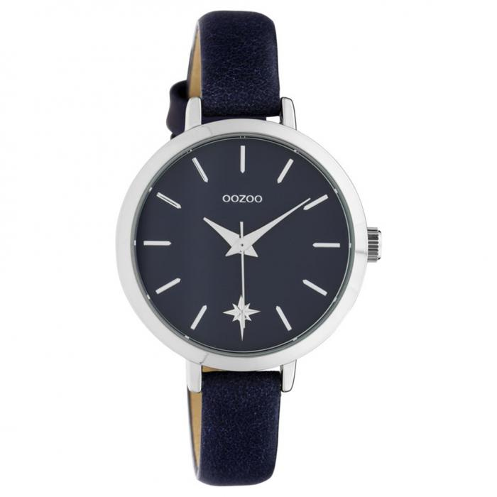 SKU-42631 / OOZOO Timepieces Blue Leather Strap